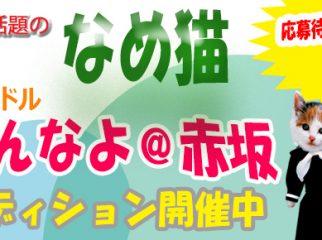 TV-CMで話題の「なめ猫」アイドル募集!